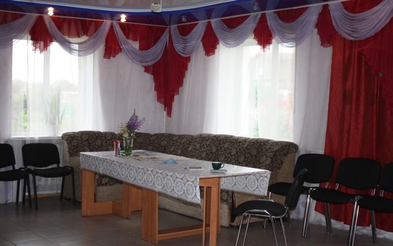 Комната проведения досуга для пожилых людей в пансионате Старобеловский